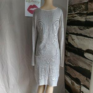Max studio size large sweater dress